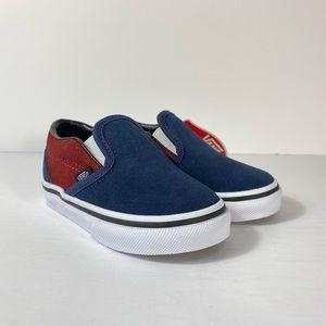 Vans Classic Slip-On Suede Dress Blues Sneakers